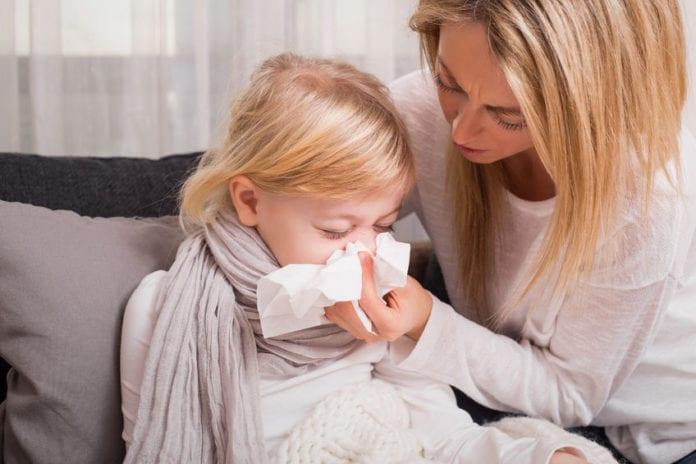 การดูแลลูกเป็นหวัด